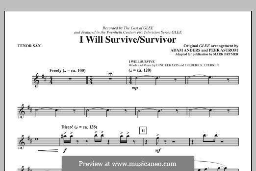 I Will Survive / Survivor (Glee Cast): Tenor Sax part by Adam Anders, Peer Åström