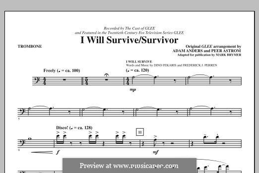 I Will Survive / Survivor (Glee Cast): Posaunenstimme by Adam Anders, Peer Åström
