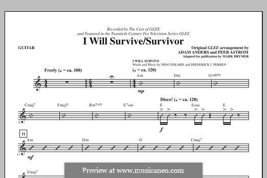 I Will Survive / Survivor (Glee Cast): Gitarrenstimme by Adam Anders, Peer Åström