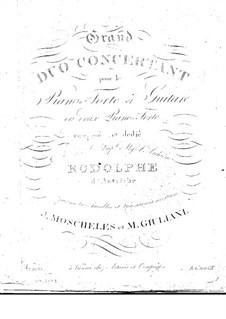 Gross Konzertduett für Gitarre und Klavier: Klavierstimme by Mauro Giuliani