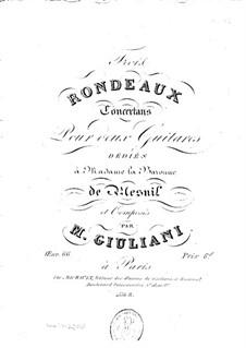 Drei Konzert-Rondo für zwei Gitarren, Op.66: Drei Konzert-Rondo für zwei Gitarren by Mauro Giuliani