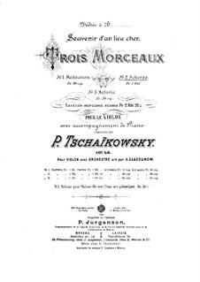Souvenir d'un lieu cher (Memory of a Dear Place), TH 116 Op.42: Nr.2 Scherzo by Pjotr Tschaikowski