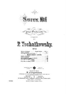 Suite Nr.1 in d-Moll, TH 31 Op.43: Nr.4 Marche miniature, für zwei Klaviere – Klavierstimme I by Pjotr Tschaikowski