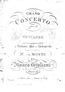 Grosses Konzert für Gitarre und Orchester Nr.2, Op.36: Stimmen by Mauro Giuliani