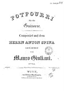 Potpourri für Gitarre, Op.26: Potpourri für Gitarre by Mauro Giuliani