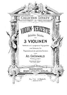 Violin-Terzette. Heft IV: Vollpartitur by Joseph Haydn, Wolfgang Amadeus Mozart, Felix Mendelssohn-Bartholdy, Ludwig van Beethoven