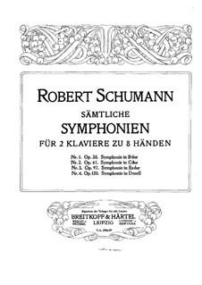 Sinfonie Nr.3 in Es-Dur 'Rheinische', Op.97: Version für zwei Klaviere, achthändig – Klavierstimme II by Robert Schumann