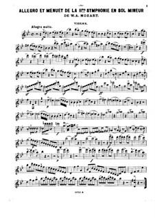 Fragments des symphonies célèbres: Band IV. Bearbeitung für Klaviertrio – Violinstimme by Wolfgang Amadeus Mozart