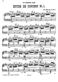 Zwei Konzertetüden, Op.15: Vollsammlung by Sebastian Bach Mills
