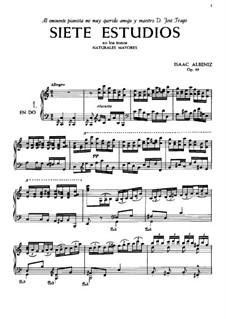Sieben Etüden, Op.65: Vollsammlung by Isaac Albéniz