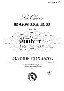 La chasse (The Hunt), Op.109: Für Gitarre by Mauro Giuliani