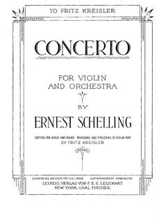 Konzert für Violine und Orchester in H-Dur: Bearbeitung für Violine und Klavier by Ernest Schelling