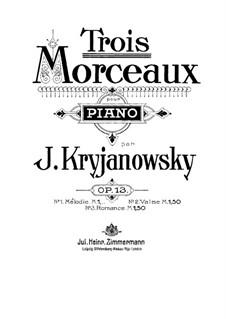 Drei Stücke für Klavier, Op.13: Nr.1 Melodie by Ivan Krischanowskij