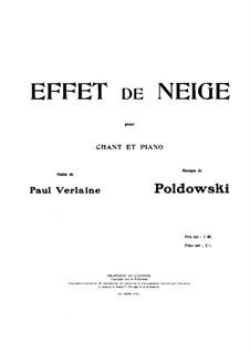 Effet de Neige: Effet de Neige by Poldowski