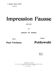 Impression Fausse: Impression Fausse by Poldowski