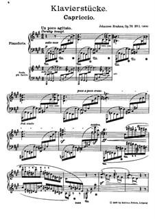 Acht Stücke, Op.76: Vollsammlung by Johannes Brahms