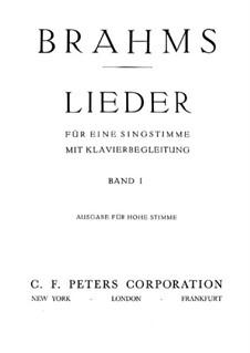 Lieder für höhe Stimme I: Lieder für höhe Stimme I by Johannes Brahms