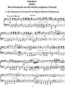 Divertissement über französische Themen, D.823: Vollständiger Zyklus by Franz Schubert