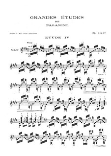 Grosse Etüden nach Paganini, S.141: Nr.4 in E-Dur by Franz Liszt
