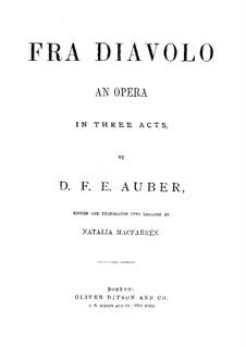 Vollständige Oper: Klavierauszug mit Singstimmen by Daniel Auber