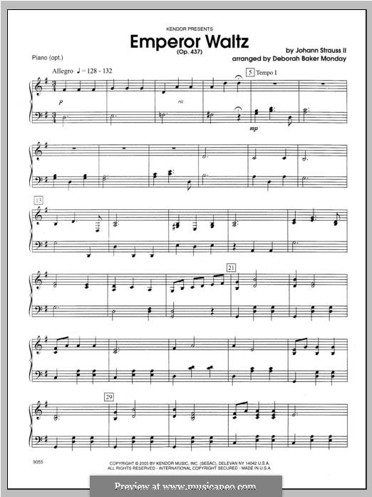 Kaiser-Walzer, Op.437: Für Klavier by Johann Strauss (Sohn)
