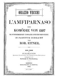 L'amfiparnaso: Für Stimmen und Klavier by Orazio Vecchi
