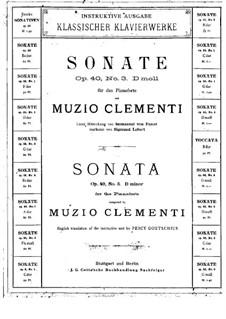 Drei Sonaten , Op.40: Sonate Nr.3 by Muzio Clementi