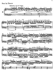 Etüden, L.136: Nr.2 Pour les tierces by Claude Debussy