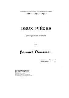 Zwei Stücke für Streichquartett: Violinstimme I by Samuel Alexandre Rousseau