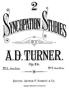 Two Syncopation Studies, Op.24: Etude No.1 in F Minor by Alfred Dudley Turner