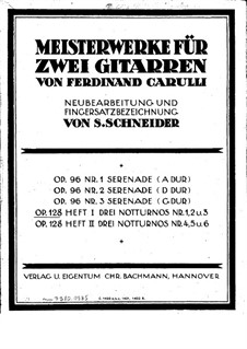 Sechs kleine Duette für zwei Gitarre, Op.128: Duette Nr.1-3 by Ferdinando Carulli
