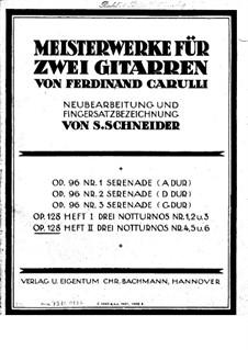Sechs kleine Duette für zwei Gitarre, Op.128: Stimmen by Ferdinando Carulli
