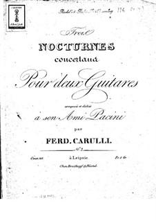 Drei Konzertnocturnen für zwei Gitarren, Op.143: Nocturne Nr.2 by Ferdinando Carulli