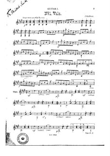 Walzer Nr.1 für zwei Gitarren: Walzer Nr.1 für zwei Gitarren by Josef Küffner