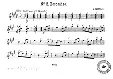 Duet 'Eccosaise' for Two Guitars: Duet 'Eccosaise' for Two Guitars by Josef Küffner