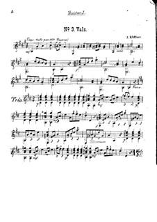 Walzer Nr.3 für zwei Gitarren: Walzer Nr.3 für zwei Gitarren by Josef Küffner