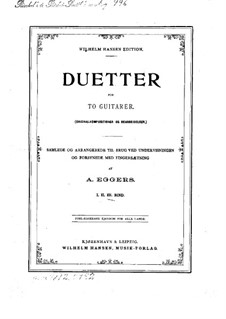 Duetter for to guitarer: Duetter for to guitarer by Niels Wilhelm Gade, Johann Peter Emilius Hartmann, Pietro Pettoletti, Ivan Padovec