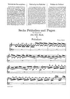 Sechs Präludien und Fugen, BWV 543-548: Nr.1. Version für Klavier, S.462 by Johann Sebastian Bach
