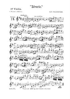 Rêverie für Violine (oder Cello) und Klavier: Version für Streichquintett und Flöte ad libitum – Violinstimme I by Benoit Constant Fauconier