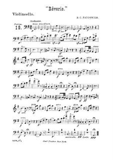 Rêverie für Violine (oder Cello) und Klavier: Version für Streichquintett und Flöte ad libitum – Cellostimme by Benoit Constant Fauconier