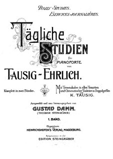 Tägliche Studien: Buch I by Carl Tausig
