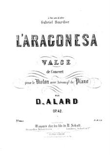 L'Aragonesa für Violine und Klavier, Op.42: Partitur by Jean Delphin Alard