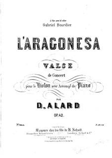 L'Aragonesa für Violine und Klavier, Op.42: Solostimme by Jean Delphin Alard
