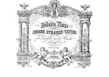 Beliebte Tänze, für Klavier, vierhändig: Beliebte Tänze, für Klavier, vierhändig by Johann Strauss (Vater)