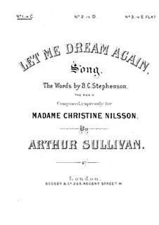 Let Me Dream Again: C-Dur by Arthur Sullivan