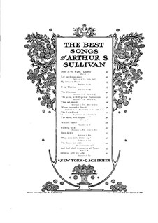 The Lost Chord: F-Dur by Arthur Sullivan