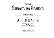 Sonate da camera Nr.3 in g-Moll: Sonate da camera Nr.3 in g-Moll by Albert Lister Peace