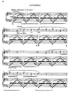 Drei Konzertetüden, S.144: Nr.3 Un sospiro by Franz Liszt
