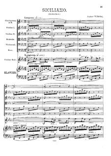 Sonate für Violine und Cembalo Nr.4 in c-Moll, BWV 1017: Siciliano. Bearbeitung für Violine und Orchester by Johann Sebastian Bach
