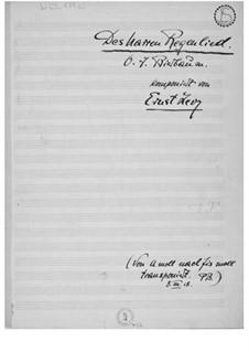 Des Narren Regenlied: fis-Moll by Ernst Levy
